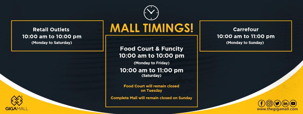 Giga Mall Timings